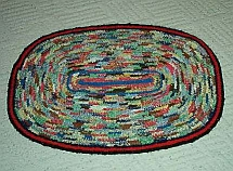 Fern Darr braided apron rug - click to view larger